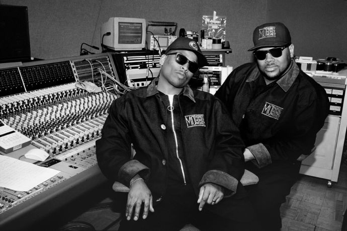 Jimmy Jam and Terry Lewis in New York City, early nineties.